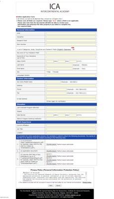 Formulário ICA