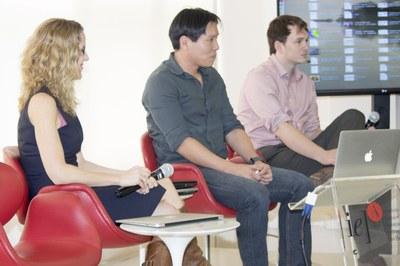 Nikki Moore, Helder Nakaya and David Gange