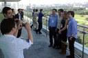 Participants visiting USP`s central administration