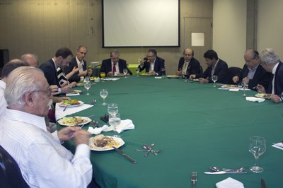 Lunch with the presidents of the universities