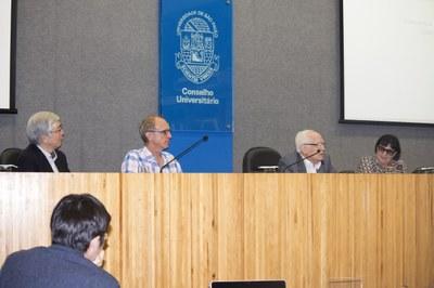 Hideyo Kunieda, Martin Grossmann, José Goldemberg and Regina Markus