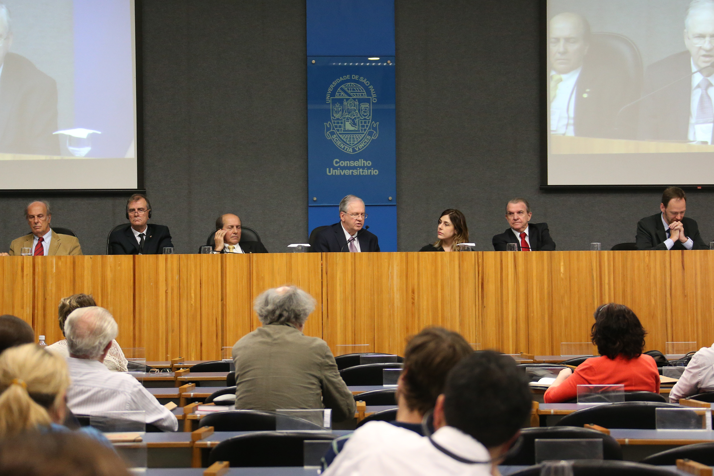 Universities' presidents and Sabine Righetti on the debate The Future of the Universities, April 24, 2015